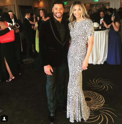 Ciara and Husband Russell Wilson Attends Teammate Deshawn's Wedding