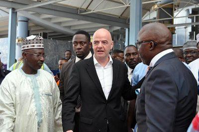 Fifa President Gianni Infantino Arrives Abuja Nigeria
