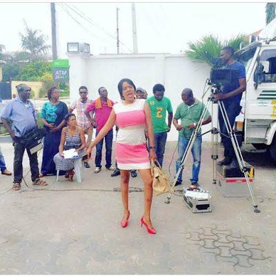 Toyin Aimakhu on set of Okafor's Law
