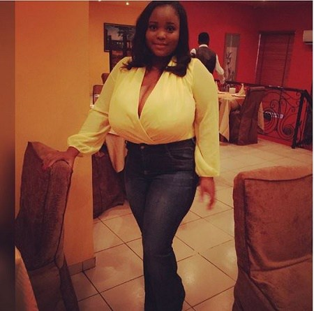Oluchi Breaks the Internet with her  With Huge Breast