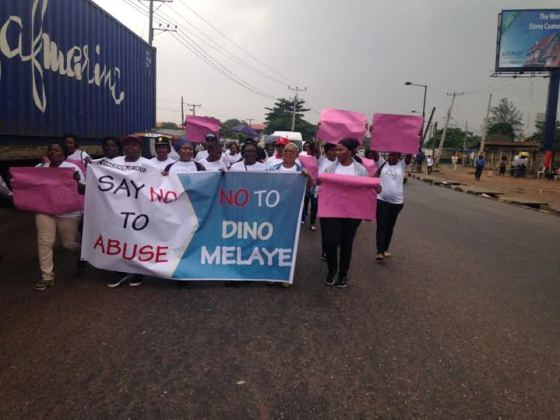 LagosWomenStageProtestAgainstSenatorDinoMelaye28429