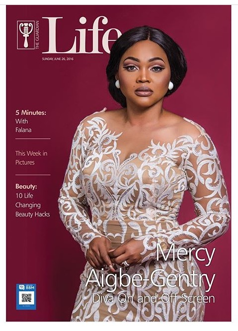 Mercy Aigbe Gentry Slays on the COver of Guardian Life Magazine