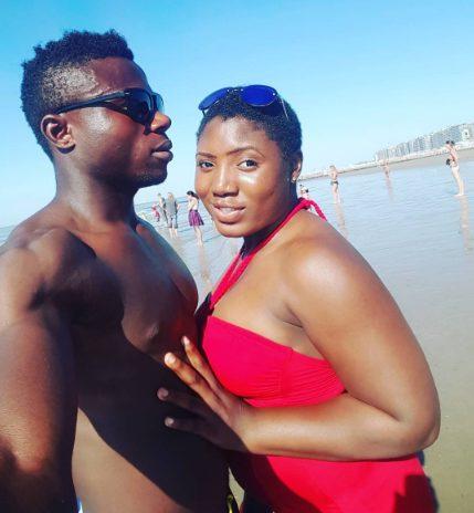 Nigerian Striker Moses Daddy-Ajala Simon and his Wife Ibukun  enjoys Vacation on the Beach