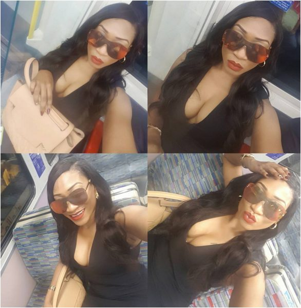 Oge Okoye Chastised on Instagram by her fans for her Racy Cleavage Baring Dress to Church