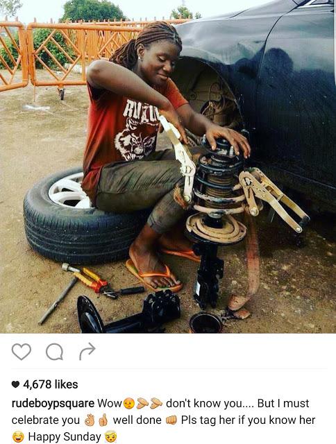 Paul Okoye is searching for this female eccentric Abuja Mechanic