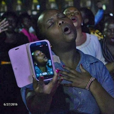 Photo of the Week - Hilarious picture of a lady in the spirit taking selfie