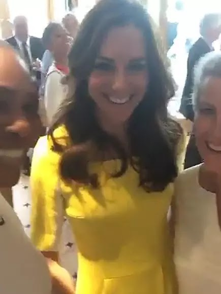 Serena Williams Hang out with the Kate Middleton the Duchess of Cambridge on Snapchat, meets Sophie, Countess of Wessex