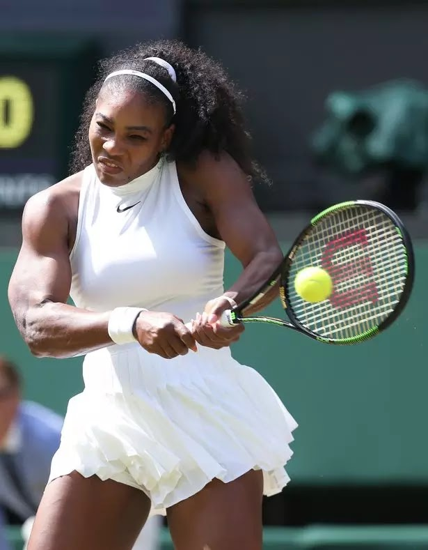 """Serena Williams Racy Nipple Showing Nike Wimbledon Dress left  Viewers shocked and """"distracted"""""""