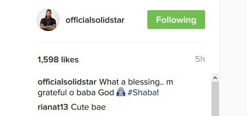 Solid Star gushes over his son on Instagram