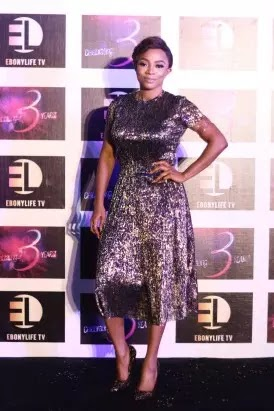 Red Carpet Photos at Ebony Life TV 3 years Anniversary as Toke Makiwa and Zainab were Red Hot on the Red Carpet
