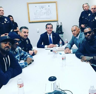 U.S Rappers Snoop Dogg and The Game Lead Peaceful March to LAPD Headquarters
