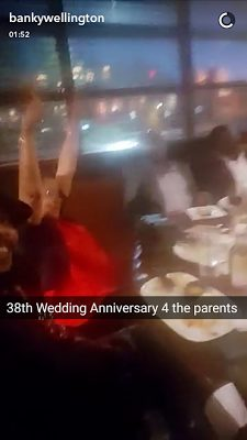 Banky W Celebrates his Parent's 38th Year Wedding Anniversary