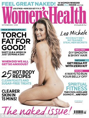 Glee star actress Lea Michelle Poses Nude  for Women's Health Uk Magazine