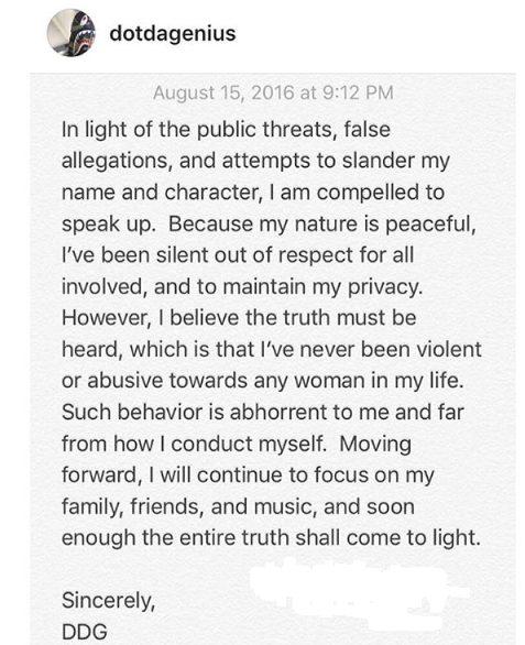 Jhene Aiko's Ex-husband Dot Da Genius finally speaks up