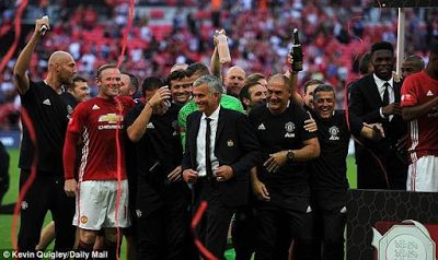 Jose Mourinho dedicates Manchester United's Community Shield win to Louis Van Gaal