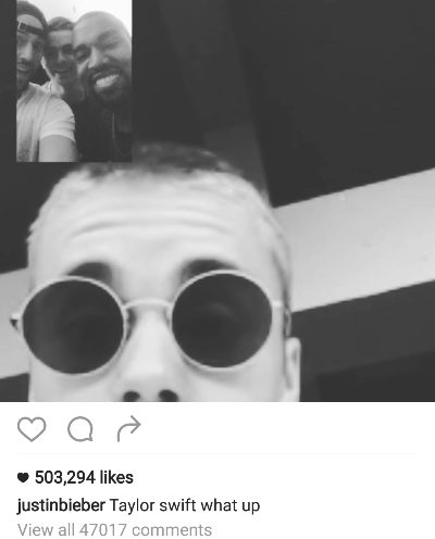 Justin Bieber Dishes Taylor Swift goes With team Kanye West