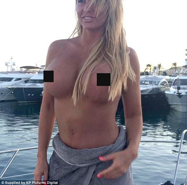 Katie Price Posting Topless Photo of her Enhanced Breast on Instagram