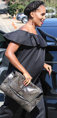 Kerry Washington Step out in Style In LA Displaying her Baby Bump