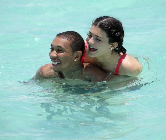 Kylie Jenner and Tyga Frolicking at the Beach as they continue to celebrate her birthday