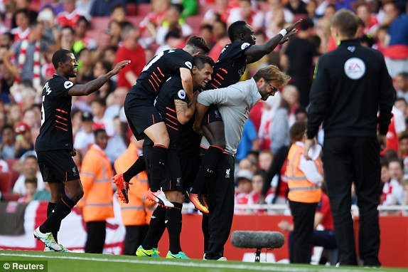Liverpool Stuns Arsenal at the Emirates Stadium 4-3 in a 7 goals Thriller