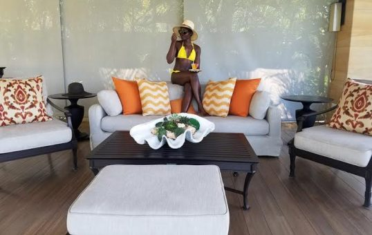 Lupita Nyong'o shows off her Toned Body in Yellow Swimsuit as she Holiday in Bali Indonesia