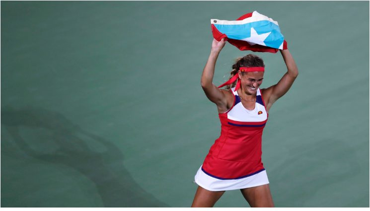 MONICA PUIG Upset World No 2 ANGELIQUE KERBER  to WIN PUERTO RICO'S FIRST OLYMPIC GOLD MEDAL