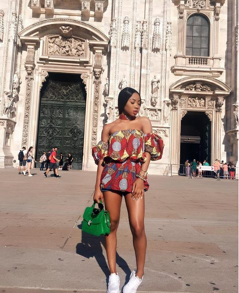 MOcheddah too hot to handle in Sexy Ankara while Enjoying Vacation in Italy