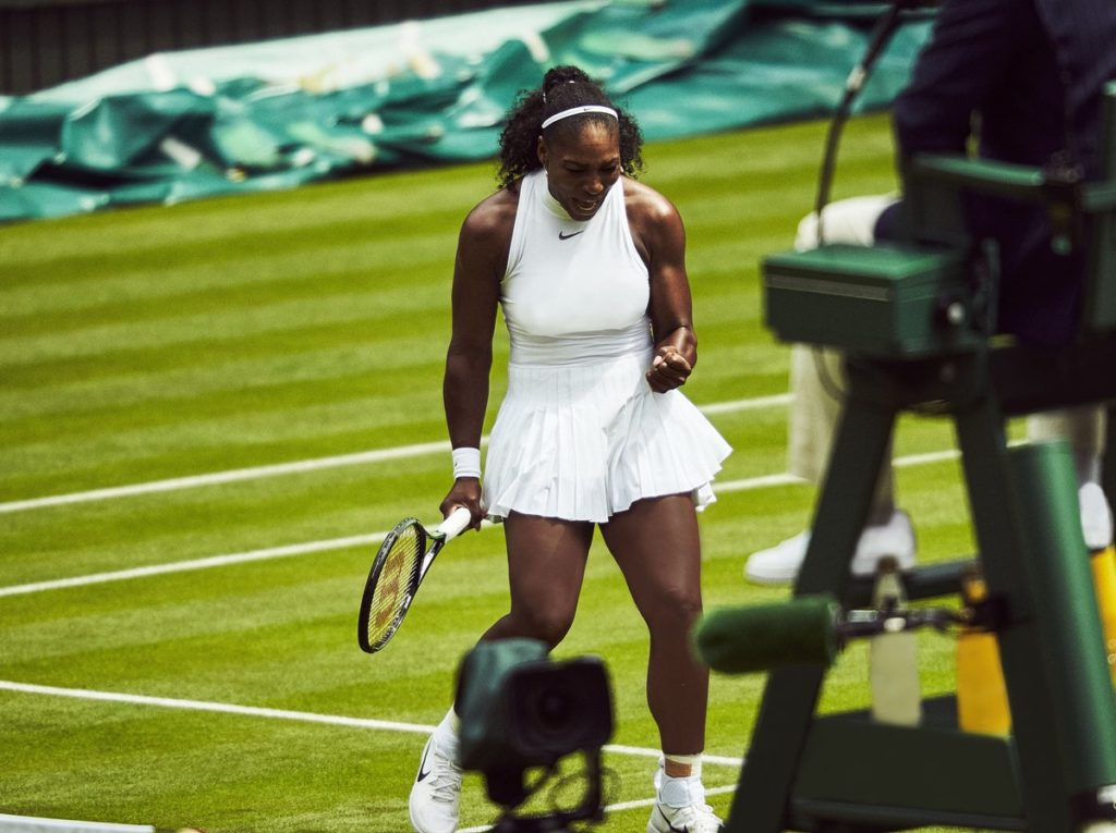 Serena Williams Sleek on fleek as she Visits Nike Lab