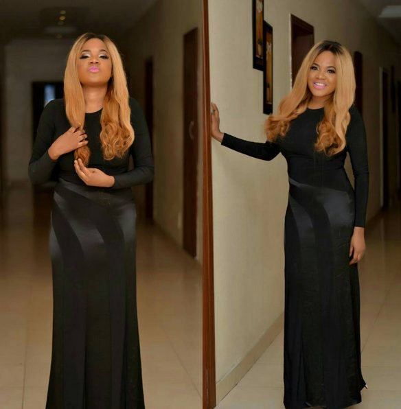 Nollywood Actress Toyin Aimakhu Slays in Black Gown for AY's Birthday Party