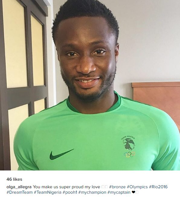 Olga Allegra Gushes about Her Boo John Mikel Obi says You make us super proud my love