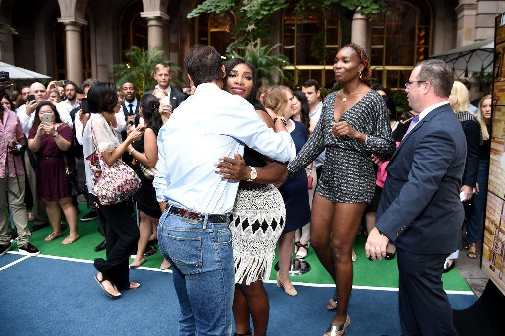 Serena Williams Hug Raphael Nadal at Wii Tennis Game in Lotte Palace New York