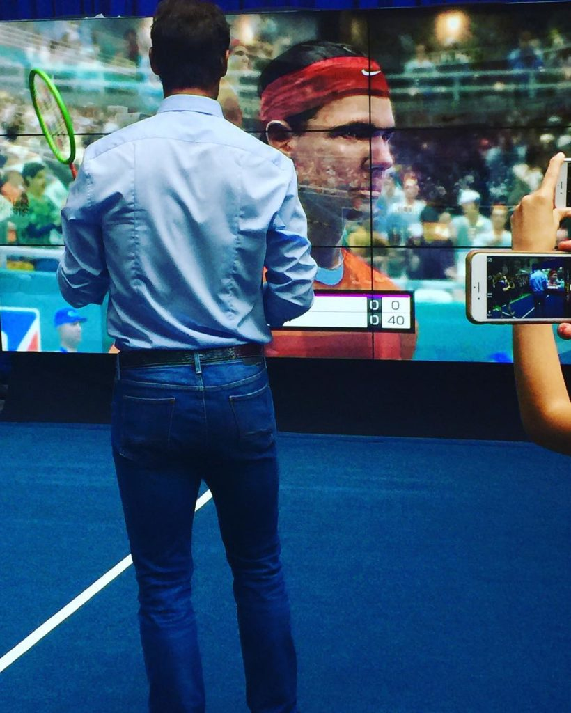 Photos from Wii Tennis Game as Serena Williams, Venus Williams and Raphael Nadal Attend