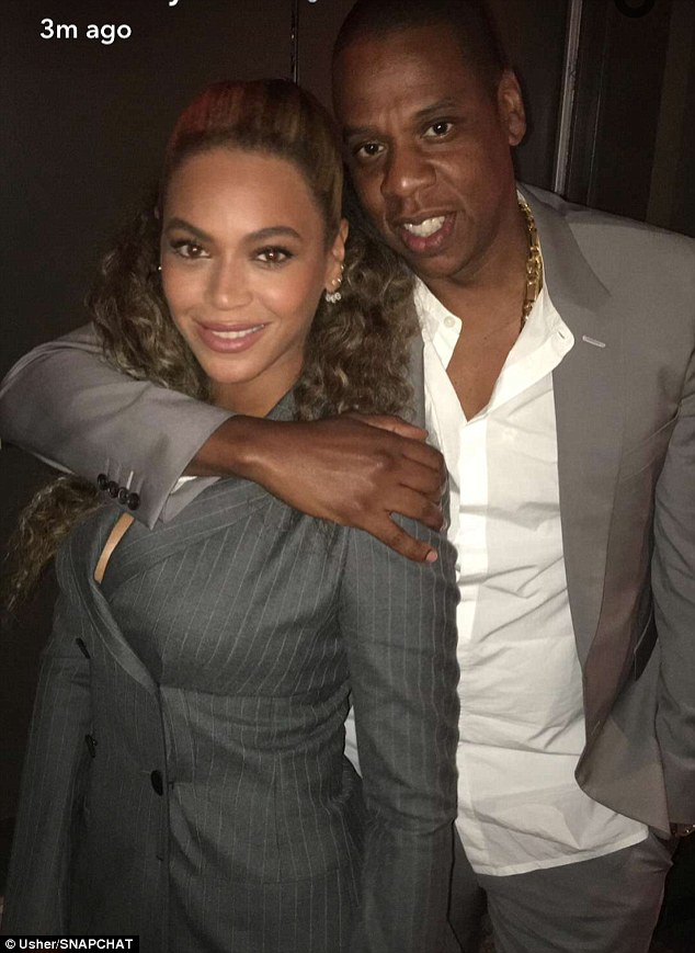 Power couple,power Grey Suits as Beyonce and Jay Z combine to attend the Movie Premiere of Hands Of Stone