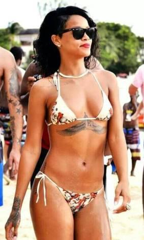Halle Calhoun got the same Tattoo as Rihanna