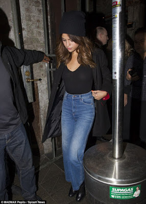 Selena Gomez Steps out braless for Lunch in sheer black top while at Australia