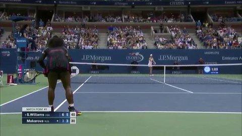 Serena Williams Demolishes Makorova 6-3, 6-3 to advance to Round  2 at the US Open 2016