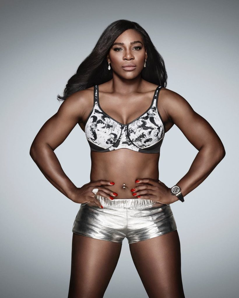 Serena Williams Flaunts her Sexy Abs and Toned Body in New Berlei Bra Photos