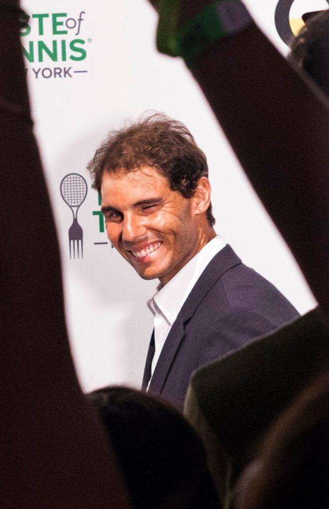 Rpahael Nadal at the Taste of Tennis