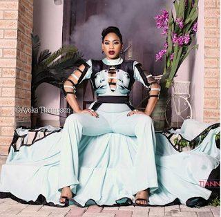 Toyin Lawani slays on the  Cover of Vanguard Allure Magazine Fashion Edition
