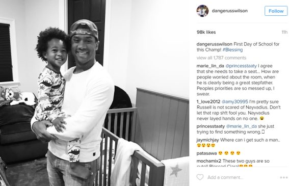 Ciara's Husband Russell Wilson shared adorable Photo with his step son Future Jnr on his first day of school