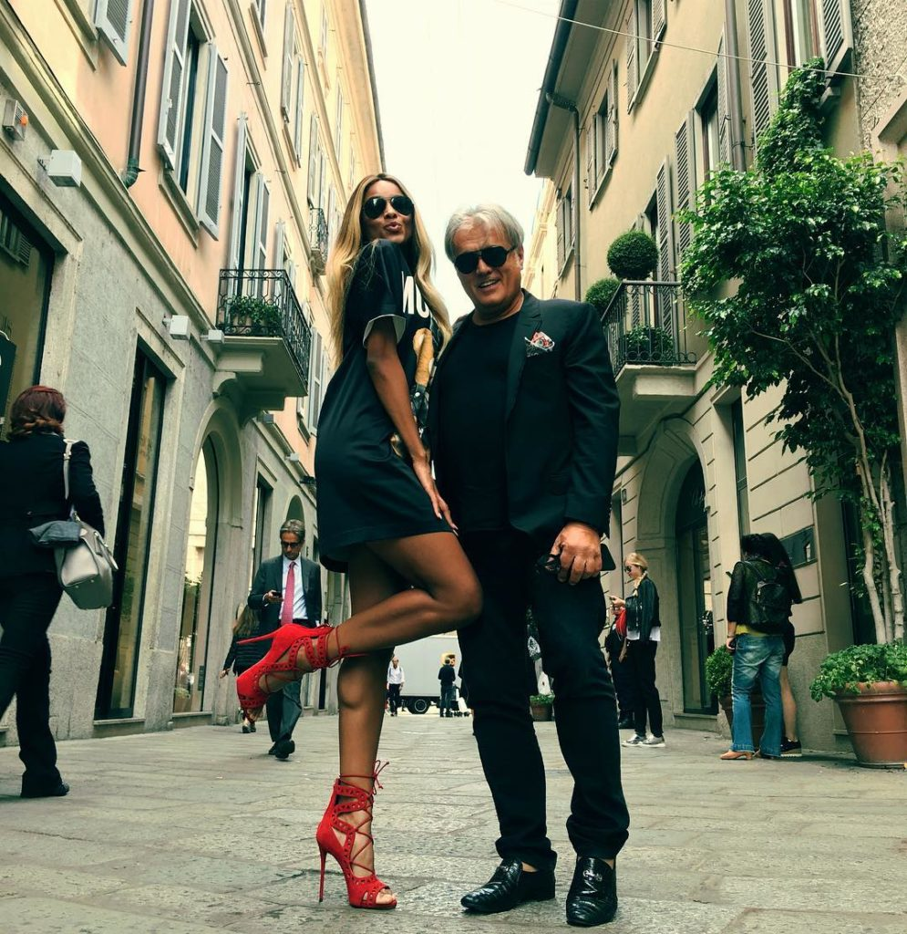 Ciara Goes for a Stroll in the Streets of Milan With Italian Shoe Maker Giuseppe Zanotti
