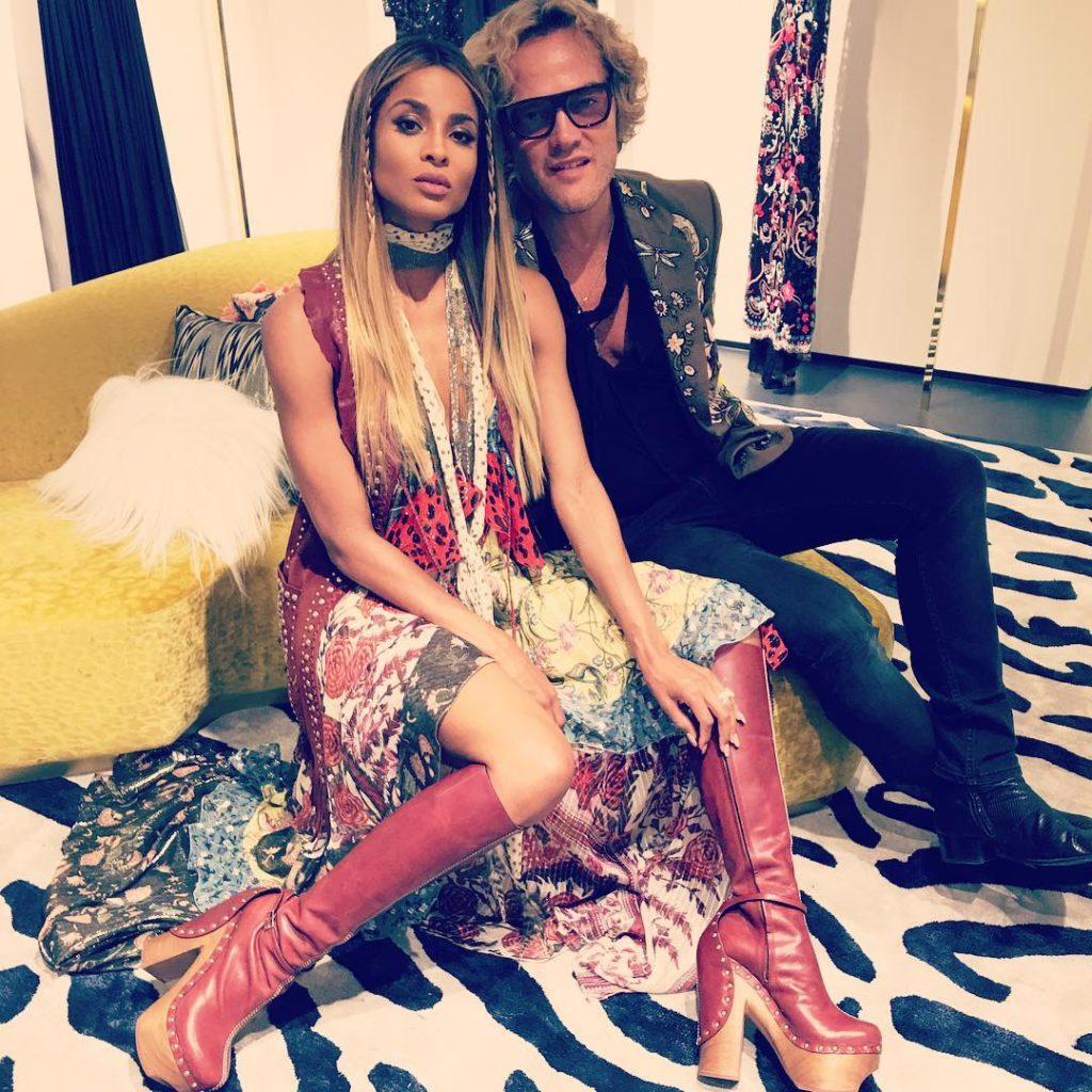Ciara Hangout with Roberto Cavilli at Milan Fashion Show Week