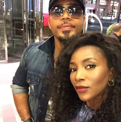 Genevieve Nnaji and Ramsey Nouah super cute in selfie at TIFF 2016