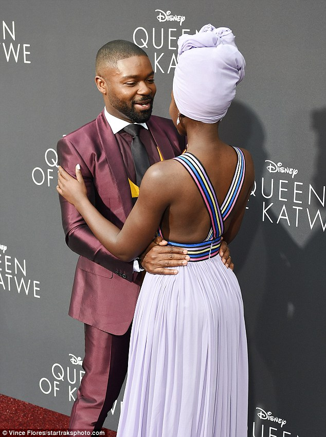Lupita  Nyong'O is your Queen  Katwe as she is Sexy hot in lilac gown & head scarf at Queen of Katwe LA premiere