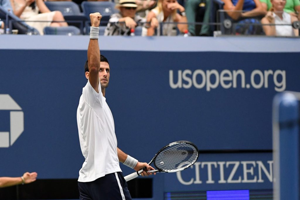Novak Djokovic Defeats Gael Monfis 6-3,6-2,3-6,6-2 at the US Open 2016