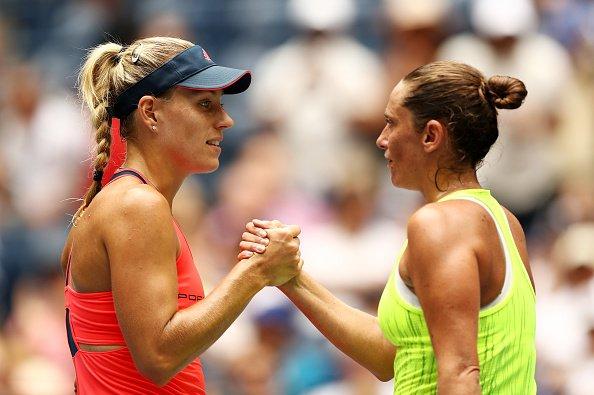 Angelique Kerber with Roberto Vinci at the US Open Quarter Final Match