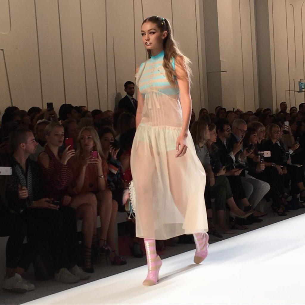 Serena Williams Gushes over Watching Super Model Gigi Hadid at the Milan Fashion Week
