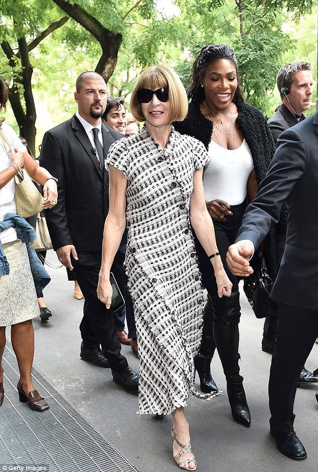 Serena Williams and Anna Wintour at Fendi in Milan