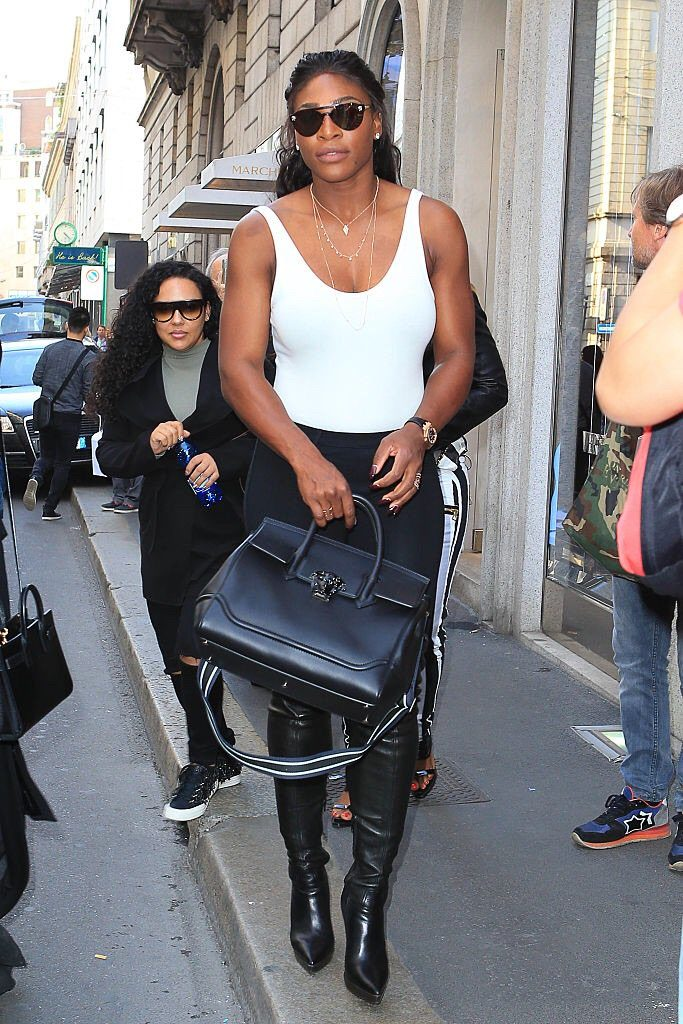 Serena Williams Sexy Hot Chic at the Fendi Show in Milan Fashion Week