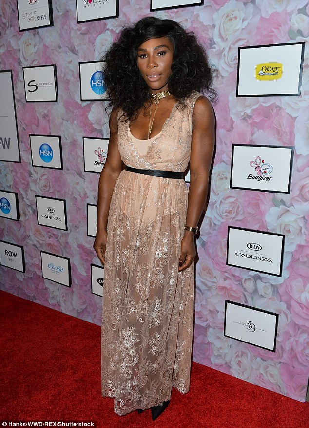 Serena Williams Super Sexy in a Sheer Metallic Dress with Beautiful Hair as she Premieres her Collection at NYFW